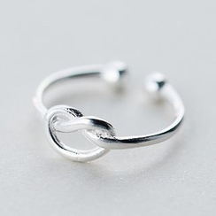 A'ROCH - 925 Sterling Silver Knot Open Ring