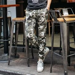 DANGOON - Band-Waist Camouflage Pants