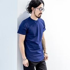 YIDESIMPLE - Short-Sleeved Long T-Shirt