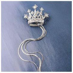 Trend Cool - Rhinestone Crown Brooch