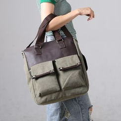MooMoo Bags - Panel Canvas Shoulder Bag