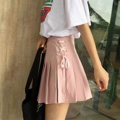 Anlay - 纯色宽松百褶Skirt