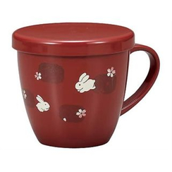 Hakoya - Hakoya Mug Cup with Lid Red Usagi Asobi