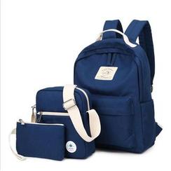 VIVA - 套裝: 帆布背包 + 斜挎包 + 小袋
