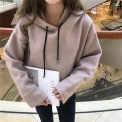 Eva Fashion - Plain Fleece-lined Hoodie