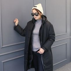 DANI LOVE - Snap-Button Long Padded Coat