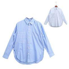 Mr. Cai - Long-Sleeve Striped Shirt