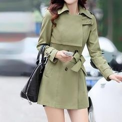 Romantica - Double-Breasted Belted Trench Coat