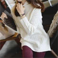 PIPPIN - Mock-Neck Cable-Knit Sweater