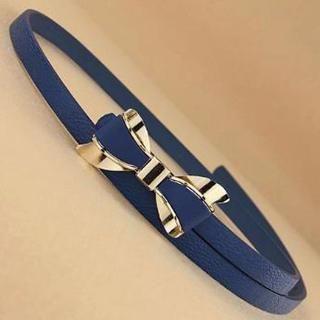 Charm n Style - Metal Bow Slim Belt