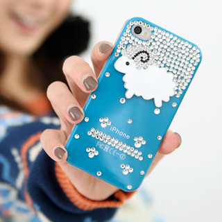 Rhinestone Sheep Accent Iphone 4/4s Case