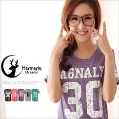Maymaylu Dreams - Number Print Short-Sleeved T-Shirt