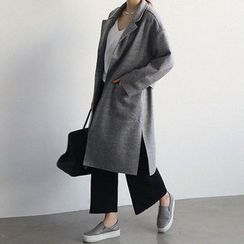 NANING9 - Seam-Trim Open-Front Coat