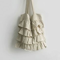 JUSTONE - Ruffle-Tiered Fabric Shopper Bag