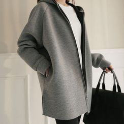 CLICK - Hooded Raglan-Sleeve Neoprene Jacket