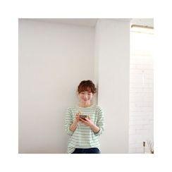 LEELIN - Long-Sleeve Striped T-Shirt