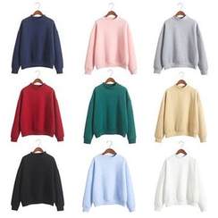 Fairy Essential - Mock-Neck Plain Pullover