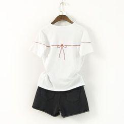 蘭芝 - 刺繡短袖T恤