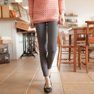Tokyo Fashion - Elastic-Waist Patterned Leggings