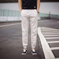 COOLIN - Elastic Cuff Straight-Leg Pants