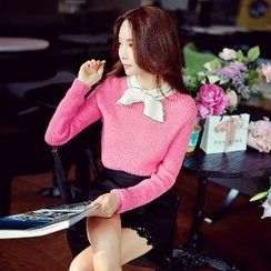 Dabuwawa - Bowed Knit Top
