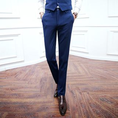 Besto - Flat Front Plain Dress Pants