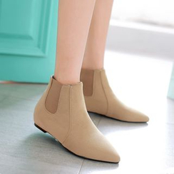 Pangmama - Faux-Suede Ankle Boots