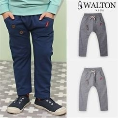 WALTON kids - Boys Button-Detail Baggy-Fit Pants