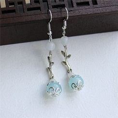 Rivermoon - Beaded Drop Earrings/ Clip-On Earrings