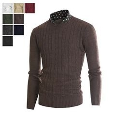DANGOON - Crew-Neck Cable-Knit Sweater