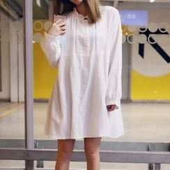 YUKISHU - Long Sleeve Frill Trim Tunic