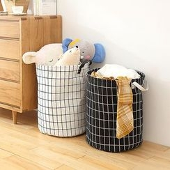 Lazy Corner - Check Laundry Basket