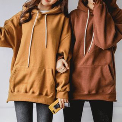 JUSTONE - Hooded Brushed-Fleece Lined Pullover
