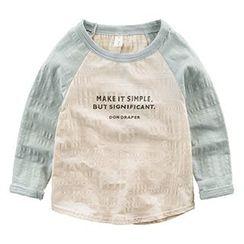 Kido - 小童长袖印字T恤