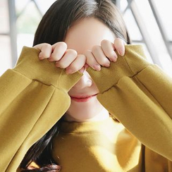 CLICK - Cotton Brushed-Fleece Sweatshirt