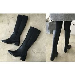 DAILY LOOK - Zip-Up Long Boots