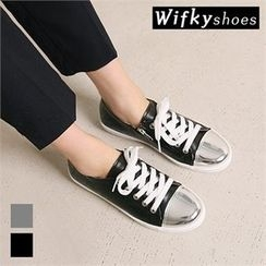 Wifky - Metal Toe-Cap Zip-Detail Sneakers