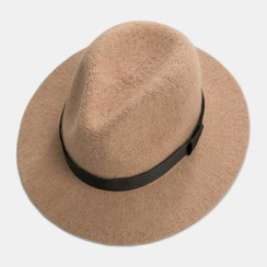 M.O.H - Bow-Accent Wool Blend Fedora