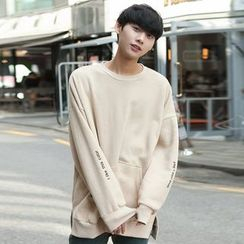 TOMONARI - Kangaroo-Pocket Brushed-Fleece Lined Sweatshirt