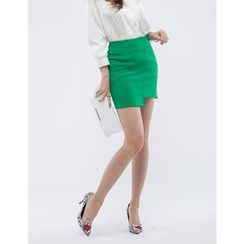 GUMZZI - Asymmetric-Hem Pencil Skirt