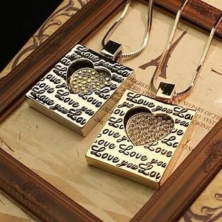 Love Generation - Lettering Heart Necklace