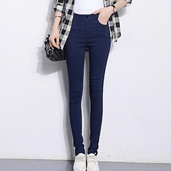 Hazie - High-Waist Skinny Pants