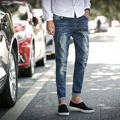 JORZ - 做舊窄身牛仔褲