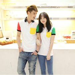 Gurun Vani - Color-Block Couple Polo Shirt