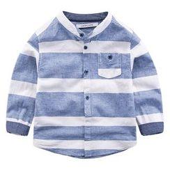 DEARIE - 兒童立領條紋襯衫