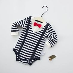 MOM Kiss - Baby Striped Bodysuit