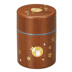 Hakoya - Hakoya Tea Caddy S Mokume Hanko Usagi