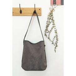 OZNARA - Faux-Suede Shoulder Bag