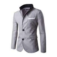 Fireon - Contrast Collar Blazer