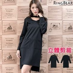 RingBear - V-Neck Plain Dress